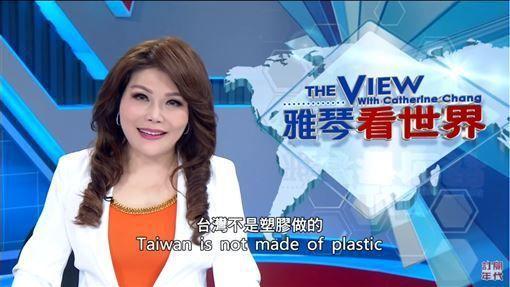 張雅琴在「雅琴看世界」嗆金句「台灣不是塑膠做的」。圖/截自YouTube
