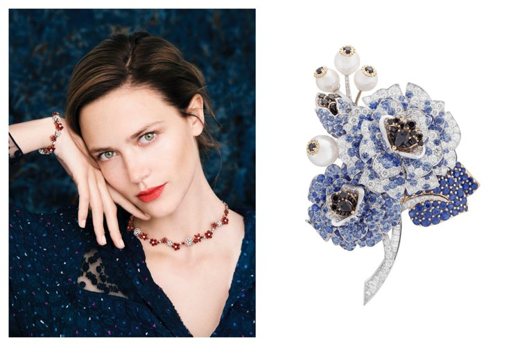 梵克雅寶將於4月20日起展出一系列春意盎然的高級珠寶。圖/梵克雅寶提供