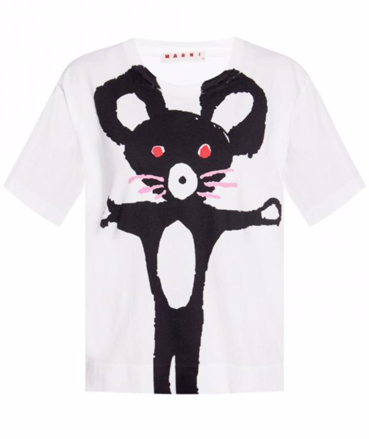 MARNI與BE@RBRICK合作限定款T恤,售價13,700元。圖/MARNI...