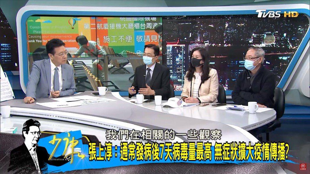 「少康戰情室」一度要求所有嘉賓戴上口罩錄影。圖/TVBS提供