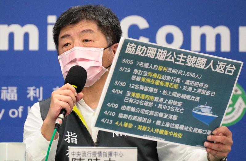 中央流行疫情指揮中心指揮官陳時中表示,一周零確診是目標,希望是在這個時間,恢復整個經濟活動。 圖/指揮中心提供