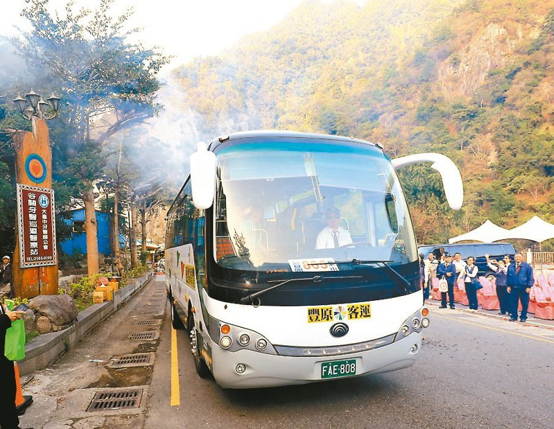 台中市交通局統計,防疫期間,46條往山區、郊區景點的公車路線搭乘人數,逆勢成長。 圖/台中市交通局提供
