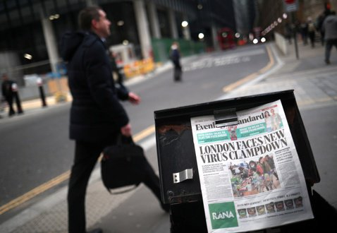 疫情下的英國媒體:廣告阻病毒關鍵字,紙網媒慘澹經營