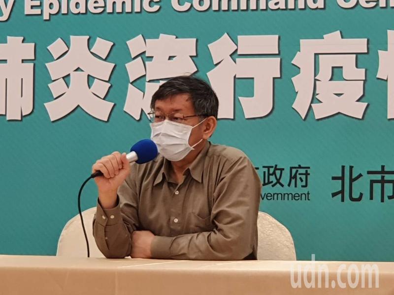 台北市長柯文哲上午參加里長座談前受訪。記者楊正海/攝影