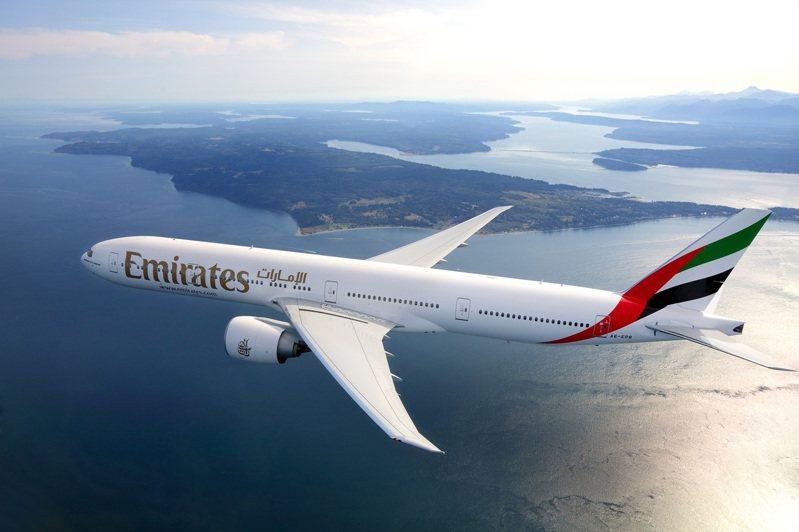 阿聯酋航空飛往台北的航班預定於4月18日起飛。圖/阿聯酋航空提供
