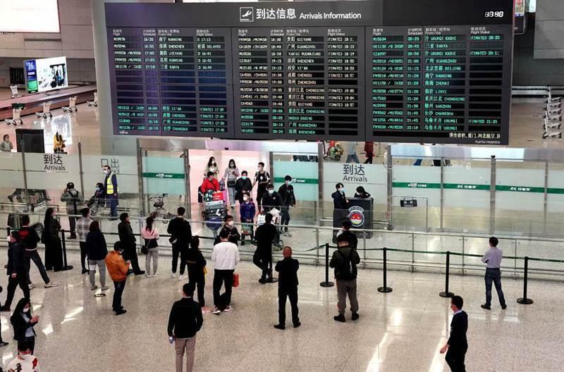 大陸目前每日入境航班都未超過20班,日入境旅客在兩三千人左右。新華社資料照片