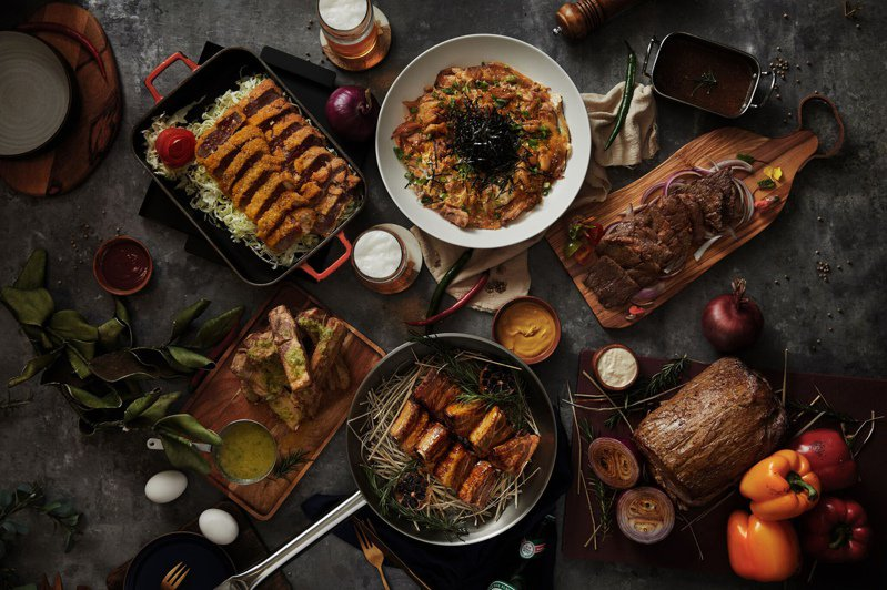 進擊系菜單「肉食主義」。圖/國泰萬怡提供