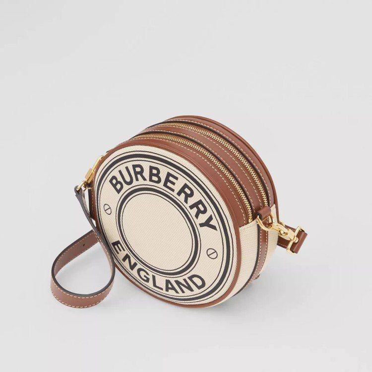 標誌圖案帆布及皮革Louise包,售價38,900元。圖/取自BURBERRY官...
