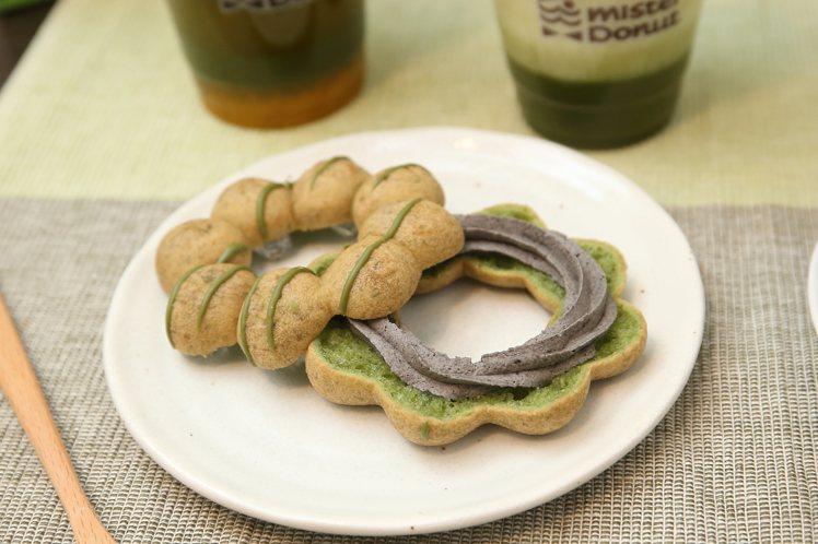 使用日本九鬼芝麻餡的辻利抹茶芝麻波堤,每個48元。記者陳睿中/攝影