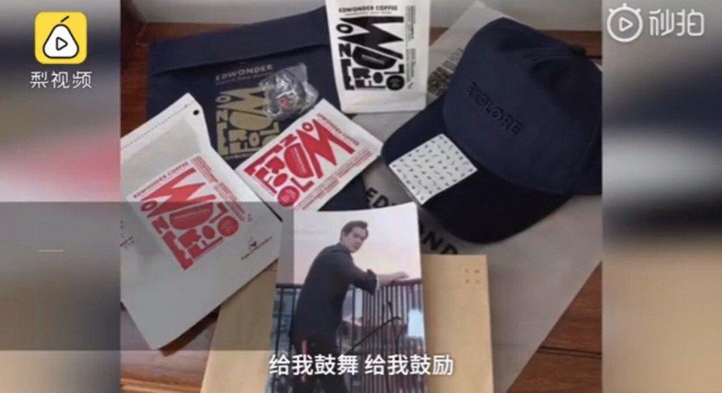 男護士收到彭于晏簽名照。圖/摘自微博