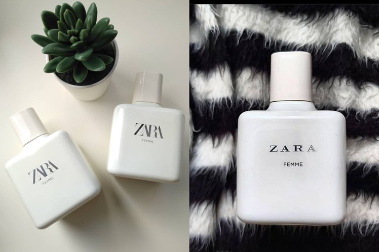 ZARA FEMME香水有著淡淡奶香味,而爆紅。圖/摘自ZARA
