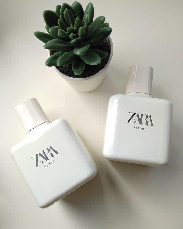 ZARA FEMME香水,外觀純白超文青。圖/摘自IG