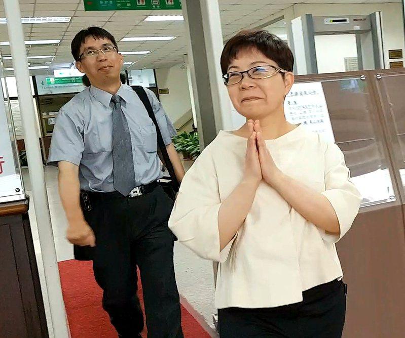 台北市前議員賴素如收受賄賂罪,台灣高等法院更一審今判她7年6月徒刑,褫奪公權4年,並沒收100萬犯罪所得。資料照片。記者王宏舜/攝影