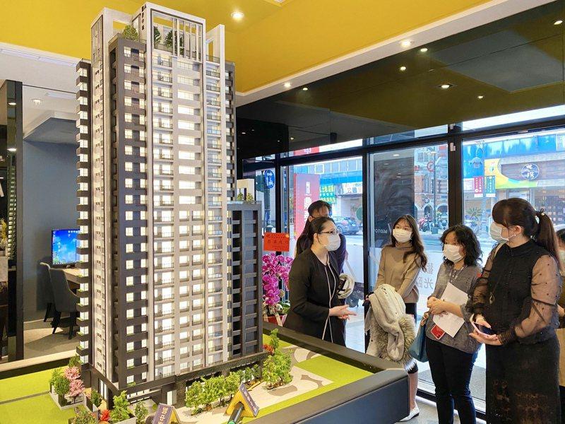 調查顯示台中住宅市場中,購屋者平均年齡為40歲,比全台平均購屋年齡最高的台北市少了2歲,且購屋者超過一半、有52.5%為女性。記者宋健生/攝影