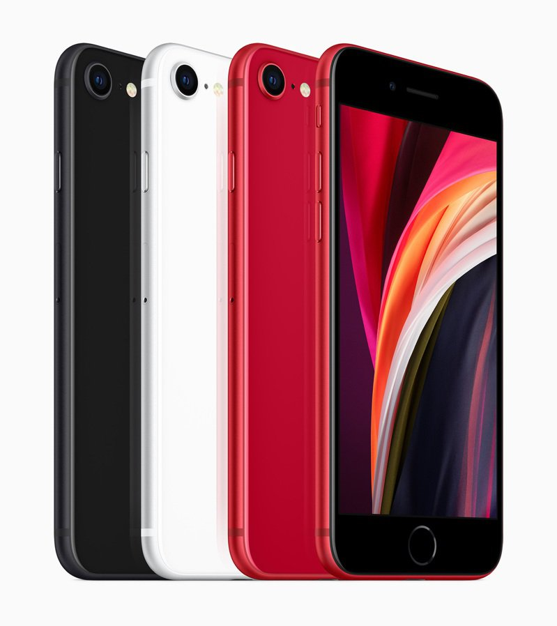 iPhone SE提供黑色、白色與 (PRODUCT)RED共3色。 圖/蘋果提供