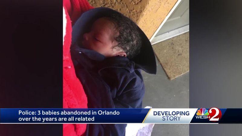 奧蘭多公寓大樓幾年內連續發現3名棄嬰,DNA顯示他們同父同母。 圖/翻攝自wesh2新聞畫面
