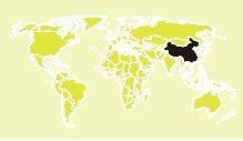 SARS全球分布圖