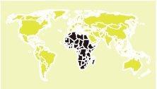 伊波拉全球分布圖