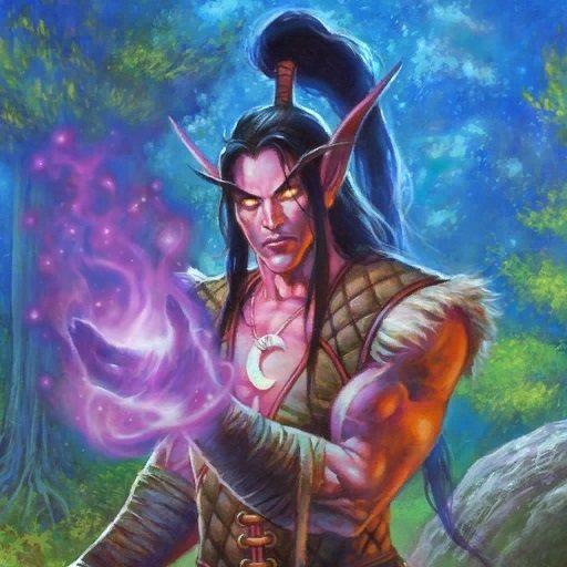 爐石中,還是法師的伊利丹·怒風,於惡魔獵人新手任務作為法師英雄登場