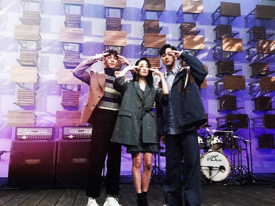 許光漢(左起)、柯佳嬿、施柏宇為「想見你」音樂會再度齊聚。圖/摘自臉書