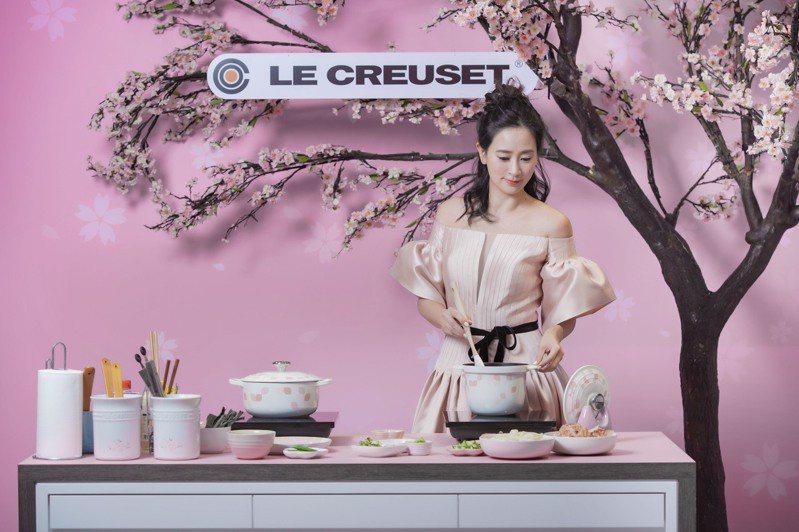 李晶晶大顯廚藝秀寵愛女菜單。 圖/Le Creuset提供