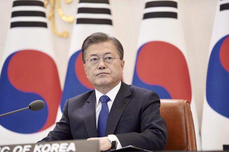 南韓總統文在寅所屬「共同民主黨」獲國會過半席次。 (美聯社資料照片)