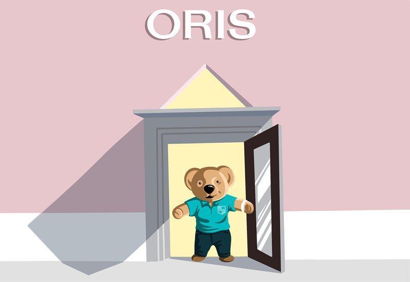 ORIS在instagram官方帳號推出超可愛小熊打頭陣,鼓勵人們分享疫情時刻的英雄善舉,獲得廣大迴響。圖 / ORIS提供。