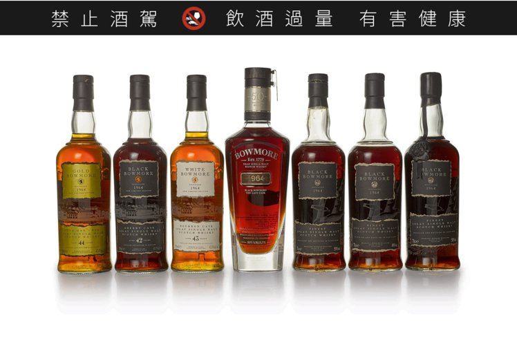 Black Bowmore and Bowmore Trilogy 一組共7瓶,...