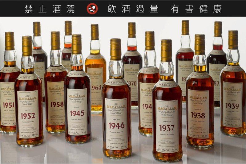 永合豐珍藏The Macallan Fine & Rare系列威士忌。圖/蘇富比提供
