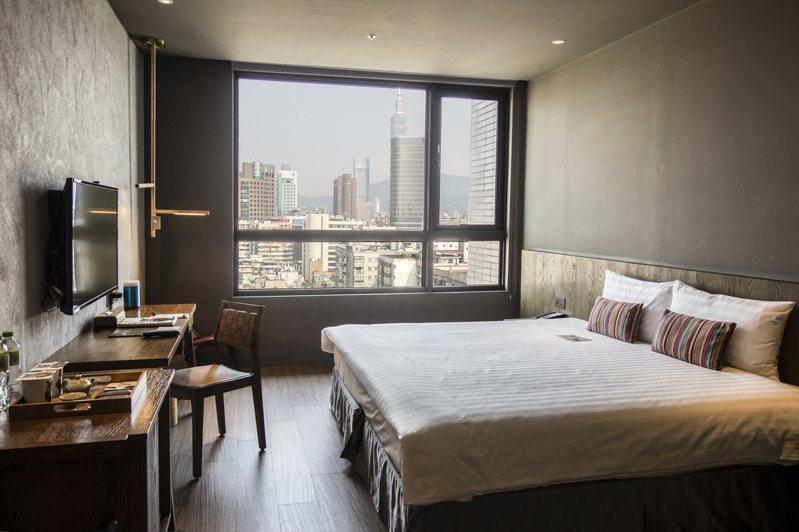 北市新增三家防疫旅館,「Home Hotel大安」有100間客房,每晚房價為5,500至7,900元(含稅、含三餐)。 圖/Home Hotel大安提供