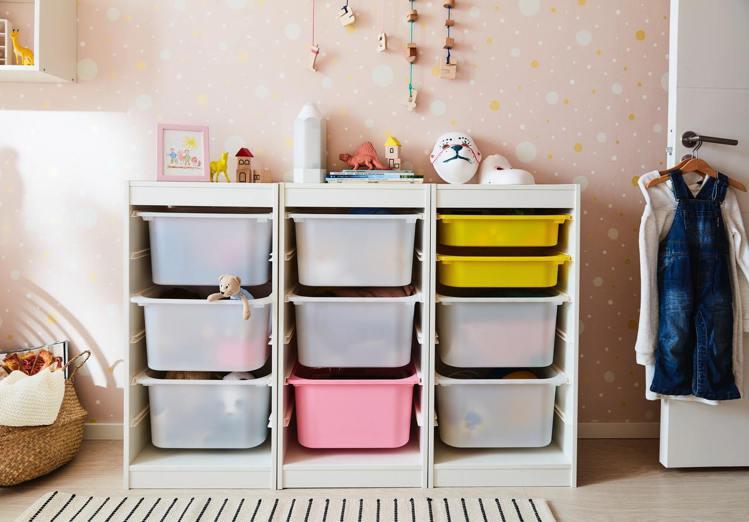 專為兒童量身打造的TROFAST系統儲物系列是IKEA員工推薦好物之一,每組1,...