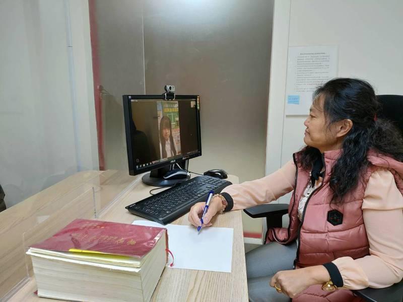 桃園市法務局每周二、四下午提供視訊法律諮詢服務。圖/桃園市法務局提供