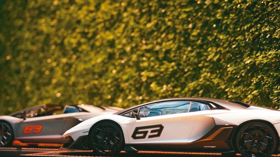 郭濟綱收集最多的是Lamborghini模型車,圖中車身上的數字63,代表全球限...