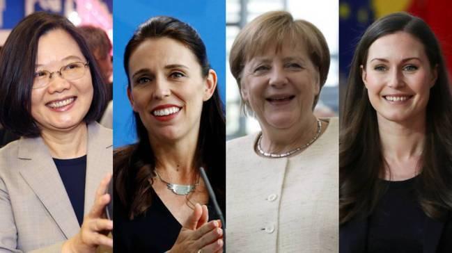 台灣總統蔡英文、紐西蘭總理亞登(Jacinda Ardern)、德國總理梅克爾(...