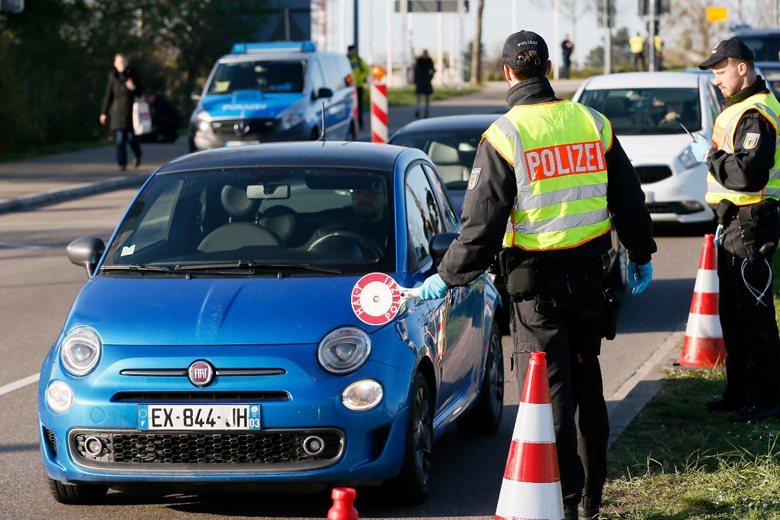德國自3月16日起關閉德國同法國、奧地利以及瑞士間邊境。 圖/歐新社