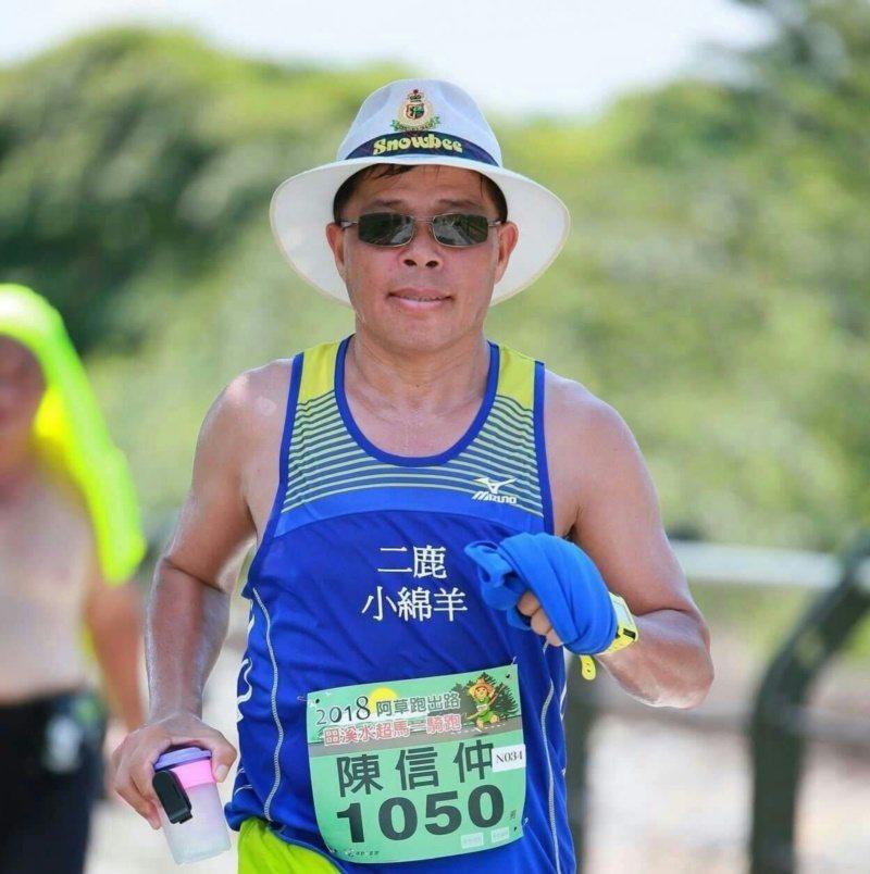 62歲陳信仲熱愛運動,不斷突破自我。 圖/陳信仲提供