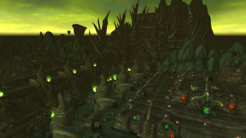 外域的地景之一,黑暗神廟