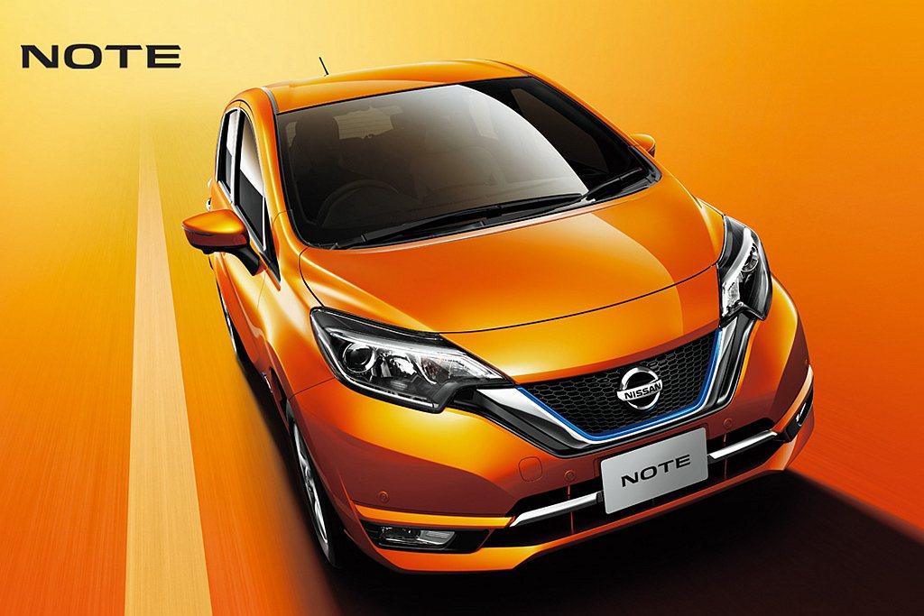 第三為Nissan Note(平均油耗37.2km/L)。 圖/Nissan提供