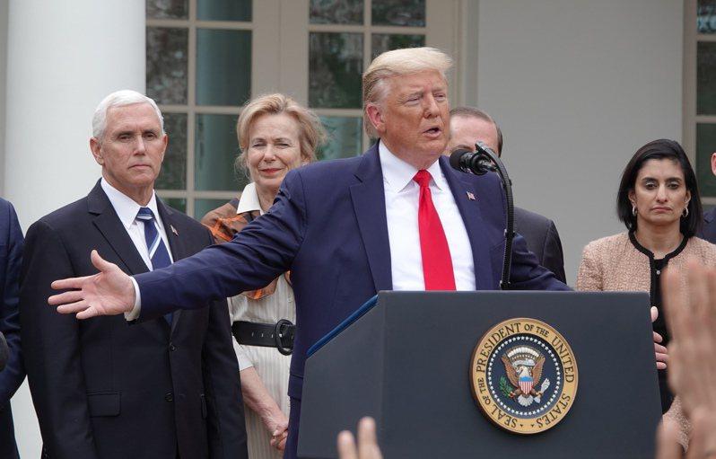 美國總統川普。本報資料照片。華盛頓記者張文馨/攝影