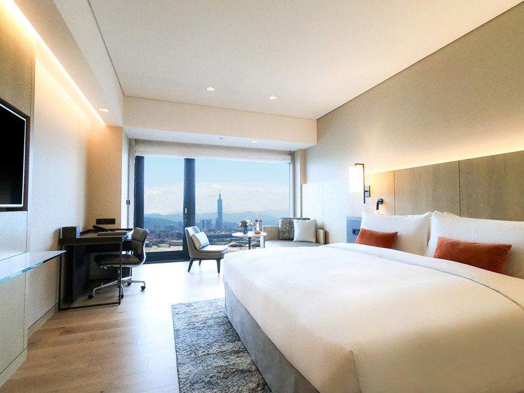 天際景觀客房。圖/台北萬豪酒店提供