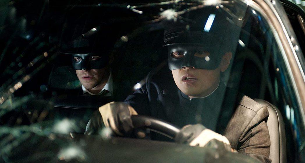 周杰倫(右)與賽斯羅根曾主演「青蜂俠」電影。圖/摘自imdb