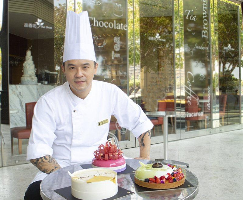 香格里拉台南遠東飯店在母親節蛋糕比賽中獲得三冠王。 圖/業者提供