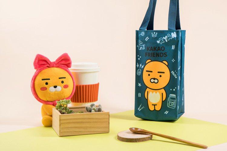 「Kakao Friends」Ryan飲料提袋,售價179元。圖/7-ELEVE...