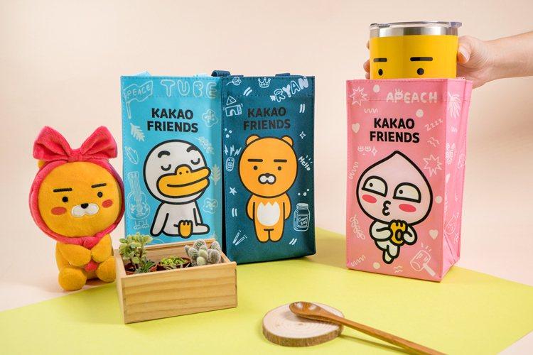 「Kakao Friends」飲料提袋共有Ryan、Apeach、Tube等3款...