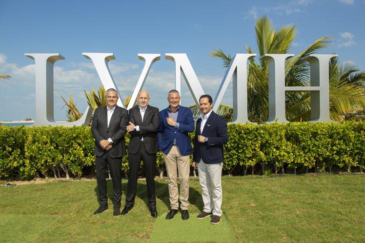 今年曾舉辦杜拜表展時,LVMH四個鐘表品牌總裁曾一同聚首。圖 / LVMH提供。