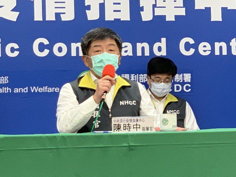 指揮中心指揮官陳時中。聯合報系記者陳雨鑫/攝影