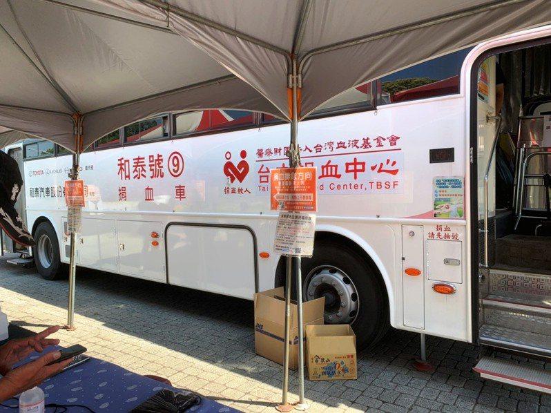 本周日兩部捐血車將停放於紫南宮水濂瀑布廣場,歡迎民眾熱誠參與並挽袖捐血。記者黑中亮/攝影