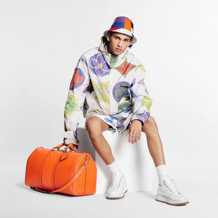 路易威登夏日男裝系列搭襯Taïgarama系列旅行袋。圖/LV提供