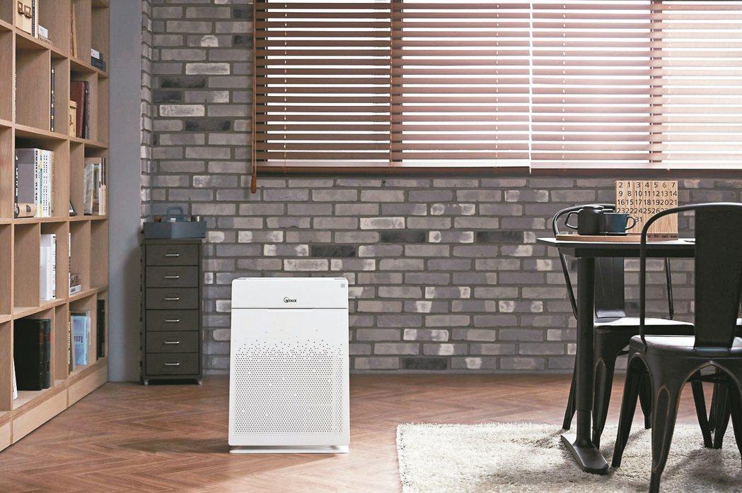 居家辦公保持頭腦清醒,可使用空氣清淨機阻擋髒空氣。 圖/WINIX Zero+提...