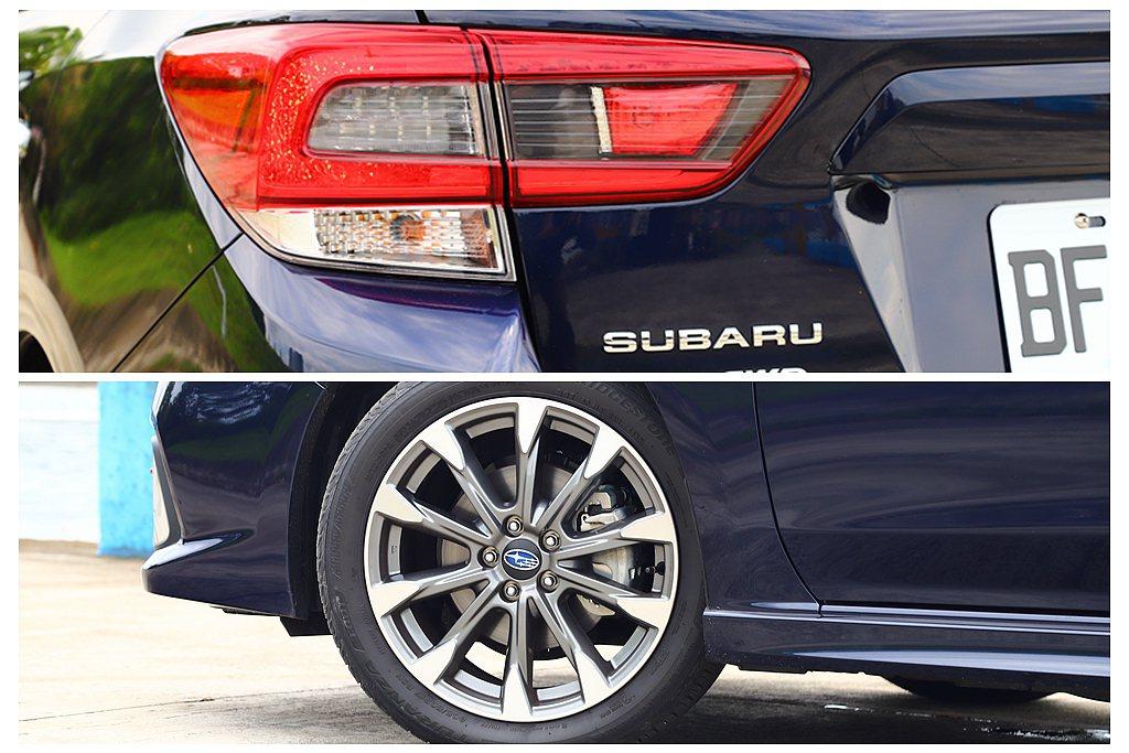 車尾換上燻黑尾燈,輪框則升級至17吋並換裝雙色削切式十爪樣式。 記者張振群/攝影
